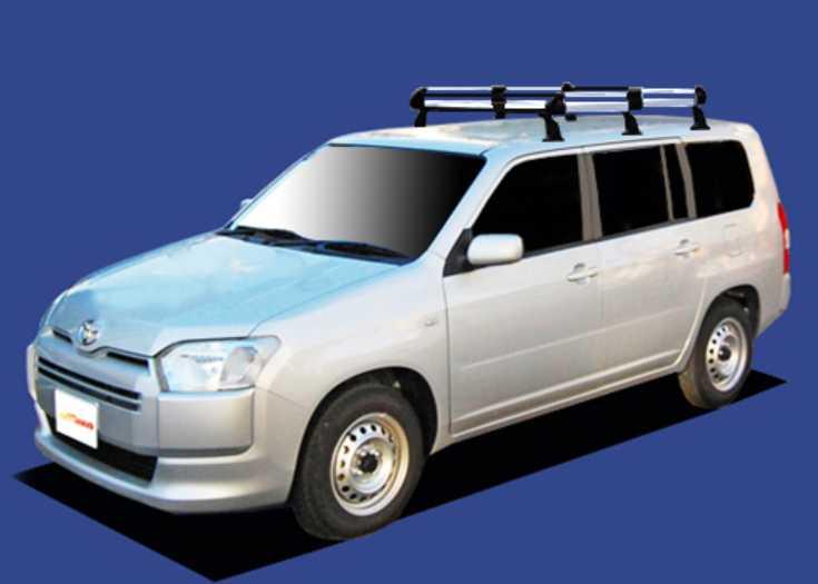 プロボックス NCP160V NCP165V NSP160V ルーフキャリア TUFREQ HF431D ハイクオリティ Hシリーズ 6本足 雨ドイ無車 送料無料