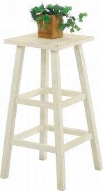 mokuシリーズ「 木製フラワースタンド ハイスクエア 」【IT】ホワイト(#9847280)、ブラウン(#9847290)幅28.5×奥行28.5×高さ55cm雑貨 ガーデニング 素朴 鉢置き 花台 フラワースタンド 屋外 天然木