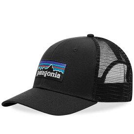 パタゴニア PATAGONIA キャップ 帽子 P-6 LABEL TRUCKER CAP 登山 ブラック Black スナップ