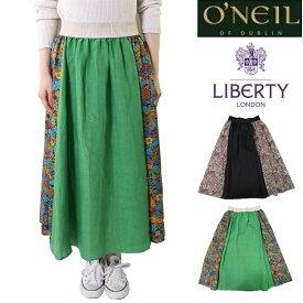 (SUMMER SALE) O'NEIL OF DUBLIN オニールオブダブリン リネン 麻 リバティ LIBERTY スカート ロング レディース 麻 リネン フレア 801 ロングスカート マキシスカート