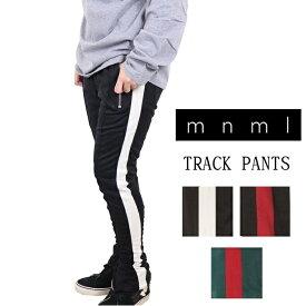 mnml ミニマル トラックパンツ TRACK PANTS メンズ レディース 春夏秋冬 ラインパンツ ブラック グレー グリーン レッド ネイビー S M L XL