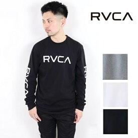 RVCA ルーカ プリント ロンT ロングスリーブ Tシャツ RVCA L/S 2019 長袖 ビッグロゴ ティーシャツ サーフ おしゃれ かわいい 西海岸 カリフォルニア カップルコーデ リンクコーデ インスタ ペアルック