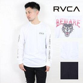 ルーカ RVCA プリント ロンT ロングスリーブ Tシャツ RVCA L/S 2019 長袖 ビッグロゴ ティーシャツ サーフ おしゃれ かわいい 西海岸 カリフォルニア カップルコーデ リンクコーデ インスタ ペアルック