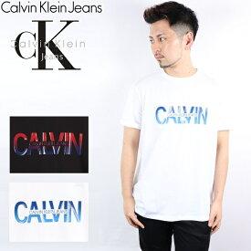CALVIN KLEIN JEANS Tシャツ カルバンクライン ジーンズ 20SS 半袖 メンズ レディース モノグラム ロゴ ティー MONOGRAM LOGO CK ブランド おしゃれ トップス ティーシャツ ベロア素材