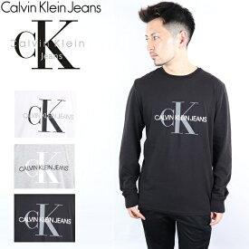 カルバンクライン ジーンズ CALVIN KLEIN JEANS 20SS Tシャツ 長袖 ロンT メンズ レディース 長袖tシャツ モノグラム ロゴ ティー MONOGRAM LOGO CK ブランド おしゃれ トップス ティーシャツ