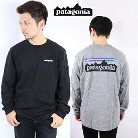 パタゴニア PATAGONIA ロンT 長袖 Tシャツ P-6 LOGO RESPONSIBILI-TEE WHI WHITE BLk Black 正規品 T SHIRTSロゴ レスポンシビリティー