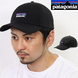 パタゴニア PATAGONIA キャップ 帽子 P-6 LABEL TRAD CAP 登山 ブラック Black アジャスター コットン