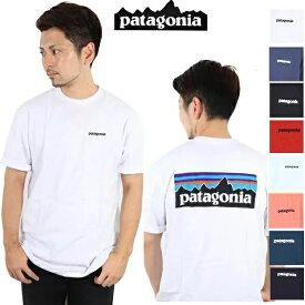 パタゴニア PATAGONIA Tシャツ P-6 LOGO RESPONSIBILI-TEE WHI WHITE BLk Black 正規品 T SHIRTS アウトドア ギフト 母の日 登山