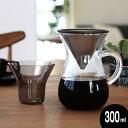 KINTO コーヒーカラフェセット 300ml ステンレス コーヒーポット おしゃれ ドリップポット コーヒーポット ガラス キ…
