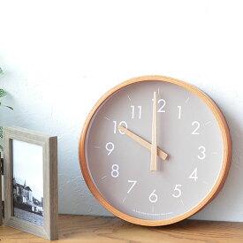 掛け時計 creer クレエ CAMPAS キャンパスウォールクロックS 壁掛け 時計 インテリア 木製 音がしない 木目 北欧 ナチュラル シンプル 寝室 リビング 丸形 クロック プレゼント ウッド
