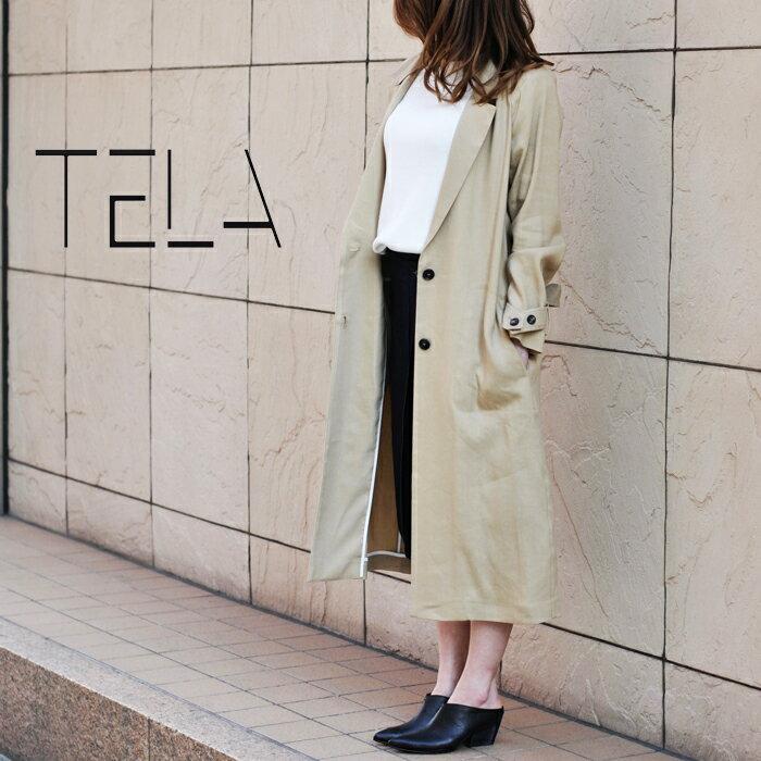◇2017s/s新作テラ◇  TELA[テラ]ラグランスリーブベルトデザインテーラードコート HOMIE