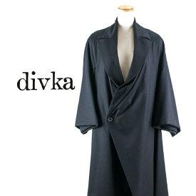 divka[ディウカ]ピークドラペルダブルロングジャケット 7A DK12-04-C06