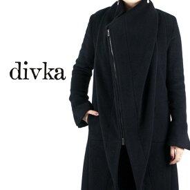 divka[ディウカ]アシンメトリーダブルジップコンビロングコート7A DK12-09-C04