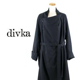 divka[ディウカ]トレンチモチーフアシンメトリーロングコート7A DK12 -06-C01