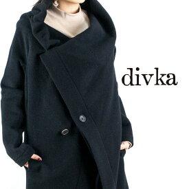 divka[ディウカ]アシンメトリーダブルロングコート7A DK12-09-C05