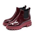 AGL[アッティリオジュスティレオンブルーニ]エナメルサイドゴアボリュームショートブーツ9AD756502ぼるどー本革/インポート/個性的/秋靴/レザーブーツ/イタリア
