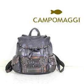 ◇CAMPOMAGGI [カンポマッジ]ウォッシュドレザースタッズポケットリュック8A C009260ND C0501