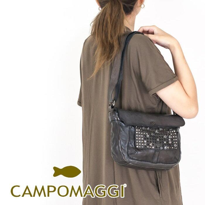 ◇CAMPOMAGGI[カンポマッジ]スタッズフラップポケットミニショルダーバッグ8AC009310NDC0501
