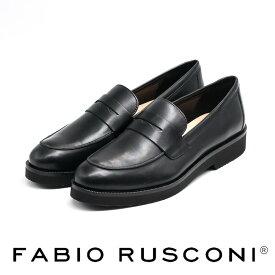 FABIO RUSCONI[ファビオ ルスコーニ]シンプルデザインビブラムソールローファー8A F4295
