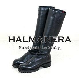 【お買い物マラソン限定】【ポイント10倍】 HALMANERA [ハルマネラ]バックジップワークロングブーツ8A MANON28