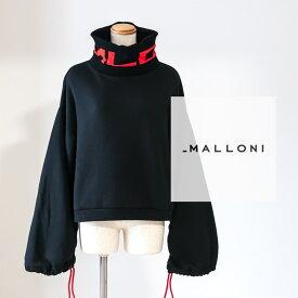 MALLONI [マローニ]ハイネックデザインプルオーバー9A 25011インポート / モード / カジュアル / スウェット / ギャザースリーブ