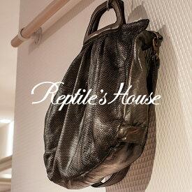 REPTILE'S HOUSE [レプタイルズハウス]マテリアルコンビネーションパンソンクラフトレザー2WAYハンドバッグ 7A BO H391V50650
