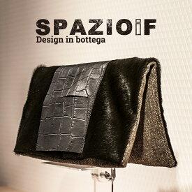 SPAZIOiF[スパッツッオイフ]マテリアルコンビネーションリバーシブルクラッチバッグ7A mod.14