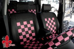 ミラ ココアに!★軽自動車汎用★ ブラック&ピンク 送料無料! シートカバー ダイハツ DAIHATSU かわいい ケアスター