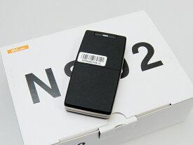 【送料無料!未使用品】au ケースのようなケータイ NS02 PTX01 ブラック 本体 白ロム【日祝発送OK】【モバックス】