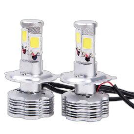 四面発光 14000lm LEDヘッドライト 7000LM 6500K 12V H4 Hi/Lo CREE社 高効率 高寿命 省電力 【カー用品】