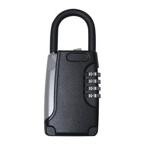 キーボックス ダイヤル式 暗証番号 屋外 玄関 ドアノブ 鍵収納 アウトドア 南京錠 防犯 保管 ロッカー