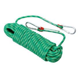クライミング ロープ ザイル 太さ 10mm 長さ 20m 登山 カラビナ フックボルダリング 消防 用 多目的