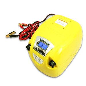 ゴムボート用 デジタル式 エアーポンプ 高圧ポンプ 空気入れ 電動ポンプ 車載 12V 海水浴 レジャー 海 川 空気入れ