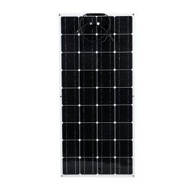 フレキシブル 単結晶 ソーラーパネル 100w 軽量 携帯便利 太陽光発電 住宅 キャンピングカー 船舶 テント アウトドア 防災などに活躍