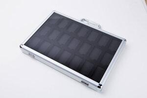 アルミ製 ライター コレクションケース 42 個 収納 可!Zippo (ジッポライター) ライターケース ジッポ ディスプレイ 高級 シルバー