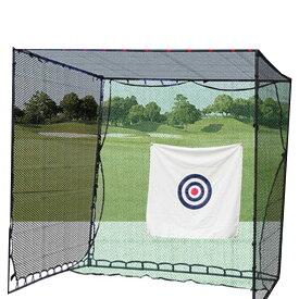 大型ゴルフ練習ネット 長さ3m×幅3m×高さ3m 簡単練習 大型ネット 安全性と使い易さを追求!プロ仕様のゴルフ練習ネット 目印付 ゴルフネット 【スポーツ・アウトドア】