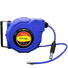 プロ仕様 ドラムリール エアーホース 300PIS対応 ホース長さ15m 切削粉 粉塵 水 油 吹き飛ばし 防塵 乾燥作業 【DIY・工具】