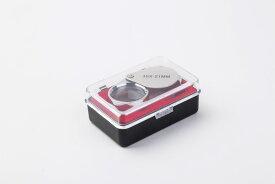ジュエリー ルーペ 30 倍 21 mm 拡大鏡 マイクロスコープ コンパクト 高級 シルバー ケース付 プロ仕様 鑑定 眼鏡