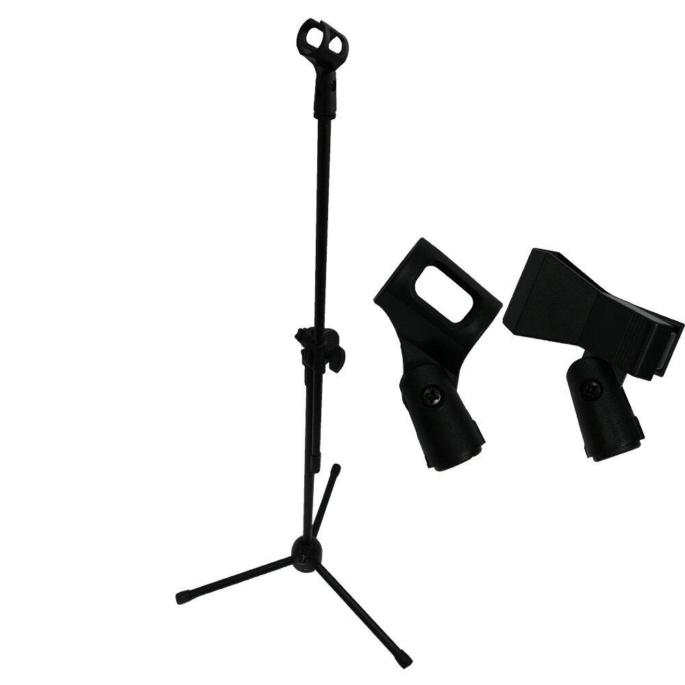 【エントリーでポイント5倍】【送料無料】マイクスタンド マイクホルダー2個付属 文化祭 ライブ イベント バンド 【おもちゃ・ホビー用品・楽器】