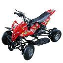 ミニ 四輪バギー 50cc 45km/h エンジン ミニカー アウトドア 混合ガソリン ブラック ホワイト レッド ブルー【レース …