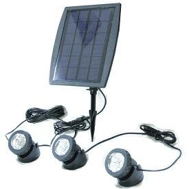 2.4W ソーラー充電式 屋外 LED ソーラーガーデンライト 太陽光発電 【外の看板灯 駐車場灯 樹木 お庭 店舗壁面などの ライトアップ照明 パーティ キャンプ アウトドア ガーデニング に】 【DIY・工具】
