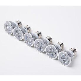 E26口金 LED スポットライト 4W ダクトレール照明器具 電球色 6個set