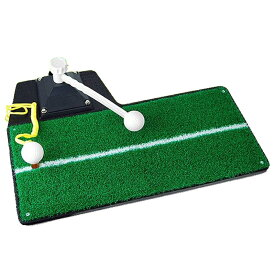 多機能 3in1 ゴルフ 練習用 マット 上達 ドライバー アイアン スイングチェック ティーショット 練習 スイングマット 室内ゴルフ練習用品 お庭で練習