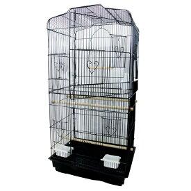 鳥かご バードゲージ 鳥小屋 大型 複数飼い セキセイインコ オカメインコ 文鳥 ケージ ゲージ 鳥がご ブラック 【ペットグッズ】