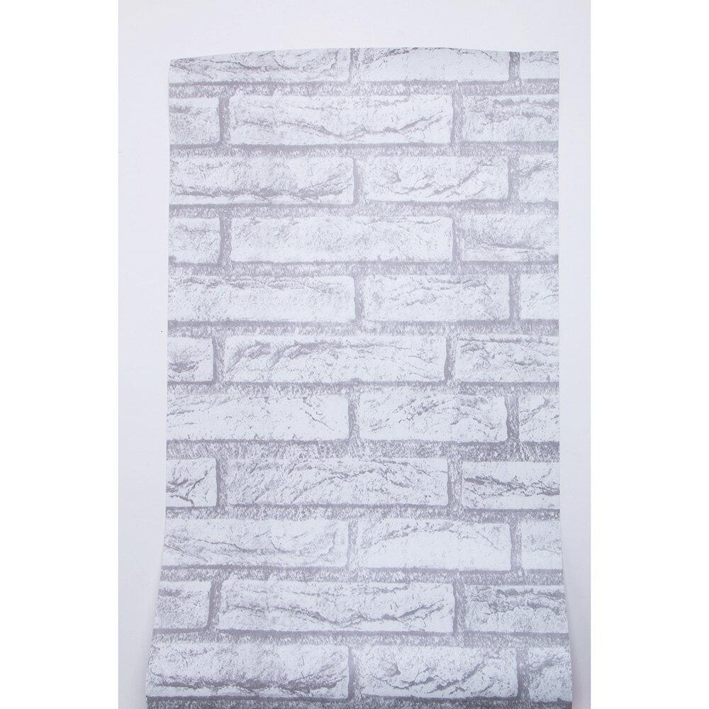 【エントリーでポイント10倍】【送料無料】DIY 壁紙シール レンガ かんたん貼付シールタイプ 45cm×10m リフォーム ウォールステッカー 防水 アンティークホワイト
