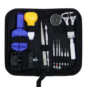 時計修理工具セット バンド修理 電池交換 ベルト調整 ソフトケース付 【DIY・工具】【作業用品関連】