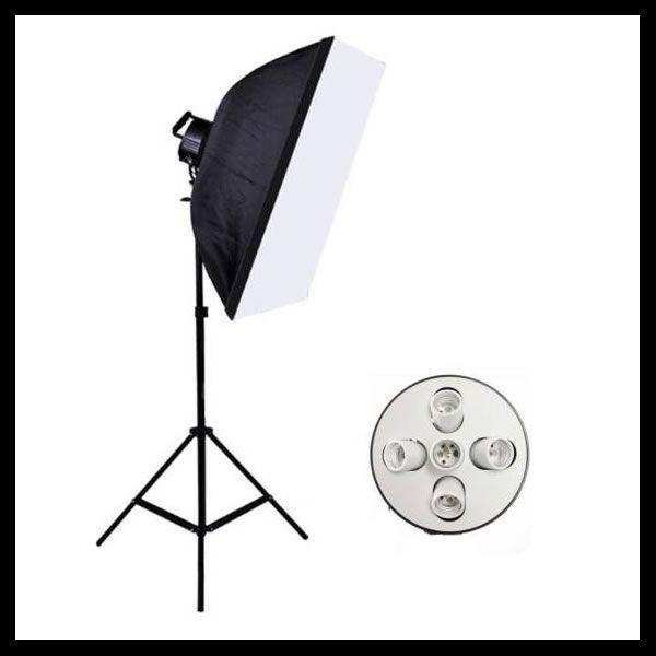 【送料無料】 撮影器具90×60ソフトボックス5灯式1灯 撮影照明 写真 【インテリア・収納】