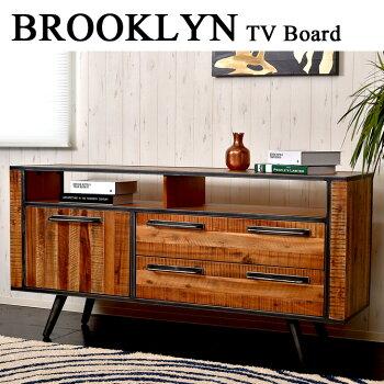 02P05Nov16ブルックリンスタイルBROOKLYNテレビボードTVボード(テレビ台天然木tvボードリビングボード収納無垢材ローボードAVボードヴィンテージビンテージ)