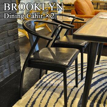 Y'sカフェチェア2脚セットインダストリアルデザイン(スチールインダストリアル家具木製イスダイニングチェアー椅子NYパーソナルチェア)3CC012