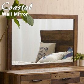 古木 リサイクルウッド ブルックリンスタイル COASTAL 西海岸 ウォールミラー ( 壁掛け鏡 壁掛けミラー 天然木 家具 無垢材 木製)